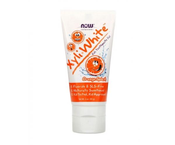 Зубная гель-паста XyliWhite Now Foods для детей со вкусом Апельсиновый всплеск 85 г