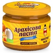 Арахисовая паста с кокосом Master BOB 300 г