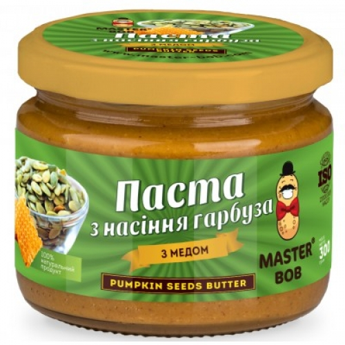 Паста из семян тыквы с медом Master BOB 300 г