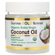 Кокосовое масло California Gold Nutrition холодного отжима органическое 473 мл