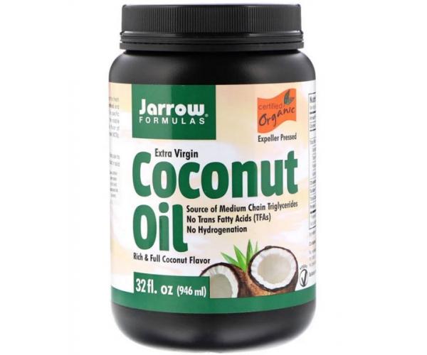 Кокосовое масло Jarrow Formulas холодного отжима органическое 946 мл