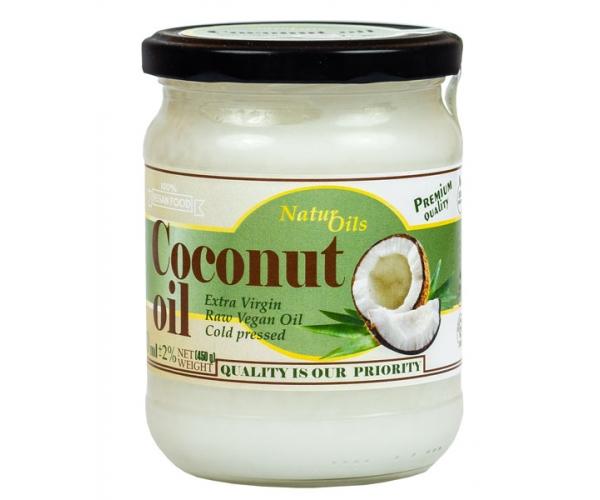 Кокосовое масло Natur Oils холодного отжима, нерафинированное 500 мл