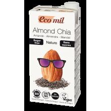 Растительное молоко Миндальное с семенами чиа без сахара Ecomil 1 л