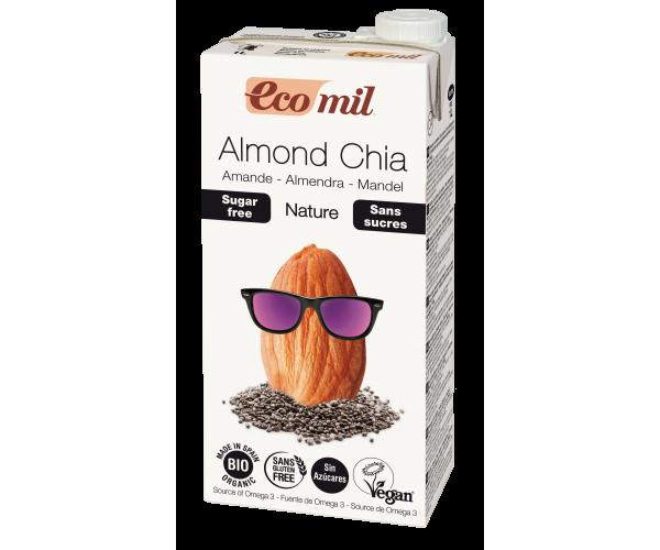 Миндальное молоко с семенами чиа без сахара Ecomil 1 л (8428532192406)