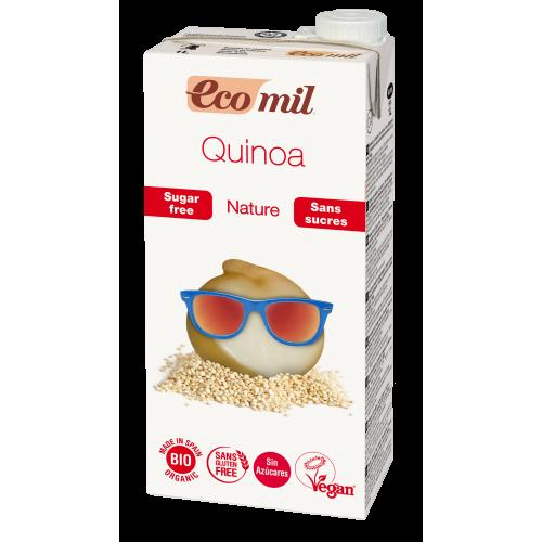 Из Киноа молоко с сиропом агавы без сахара  Ecomil 1 л