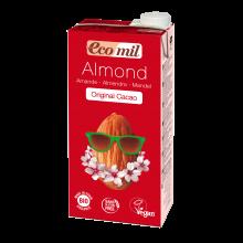 Растительное молоко Миндальное с сиропом агавы и какао без сахара Ecomil 1 л