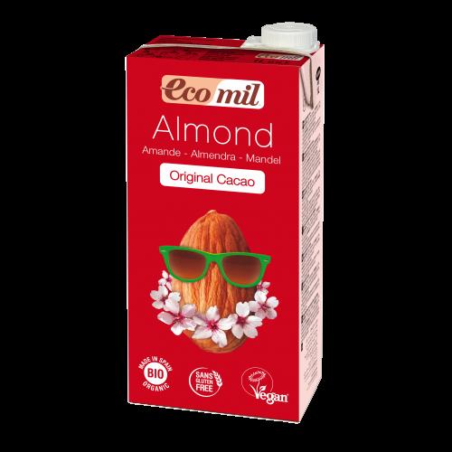 Миндальное молоко с сиропом агавы и какао без сахара Ecomil 1 л