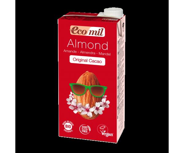 Миндальное молоко с сиропом агавы и какао без сахара Ecomil 1 л (8428532210124)