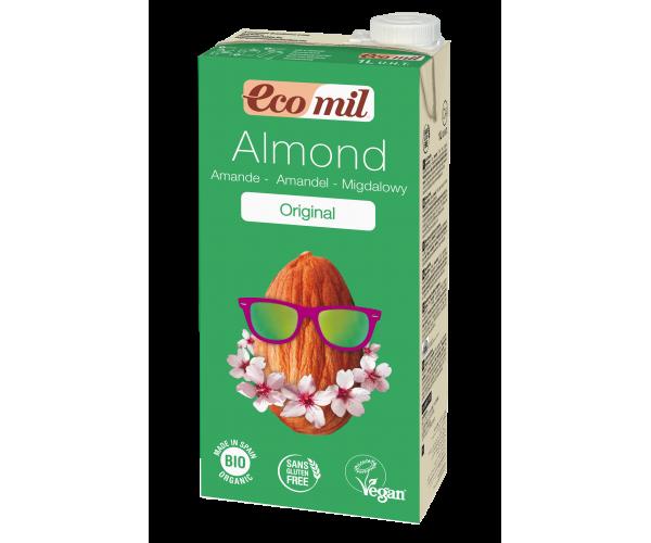 Миндальное молоко с сиропом агавы без сахара Ecomil 1 л