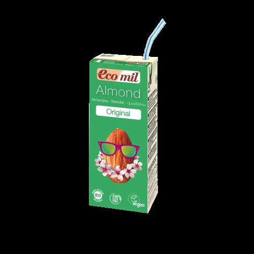 Растительное молоко Миндальное с сиропом агавы без сахара Ecomil 200 мл