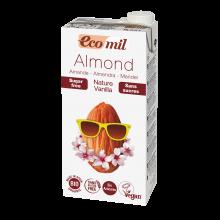 Растительное молоко Миндальное с ванилью без сахара Ecomil 1 л