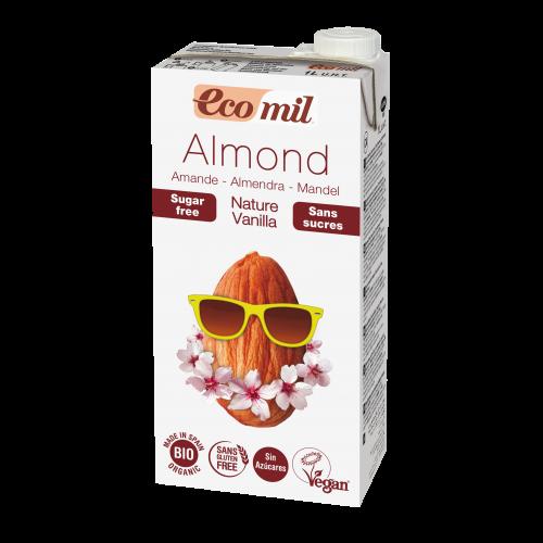 Миндальное молоко с ванилью без сахара Ecomil 1 л