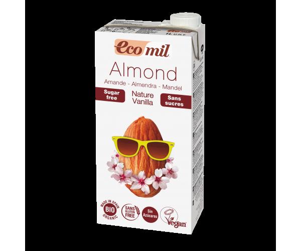 Миндальное молоко с ванилью без сахара Ecomil 1 л (8428532230252)