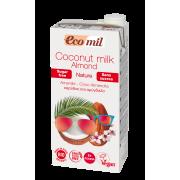 Растительное молоко Кокосово-миндальное без сахара Ecomil 1 л