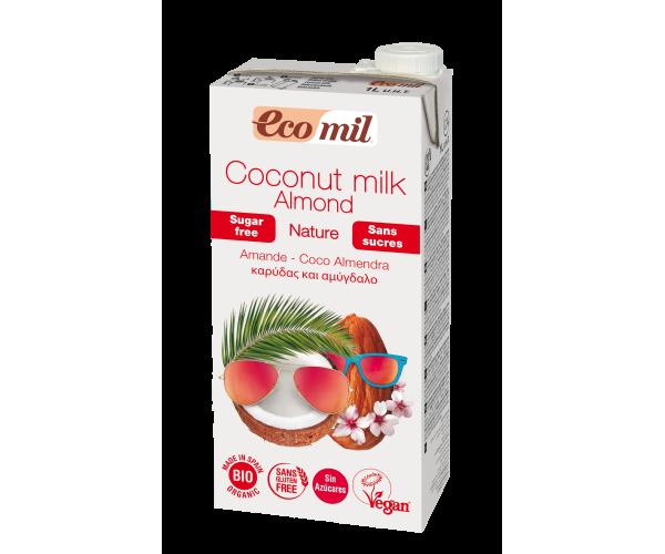 Кокосово-миндальное молоко без сахара Ecomil 1 л (8428532230061)