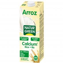 Растительное молоко Рисовое с кальцием без сахара NaturGreen 1 л