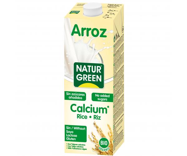 Рисовое молоко с кальцием без сахара NaturGreen 1 л (8437002932794)