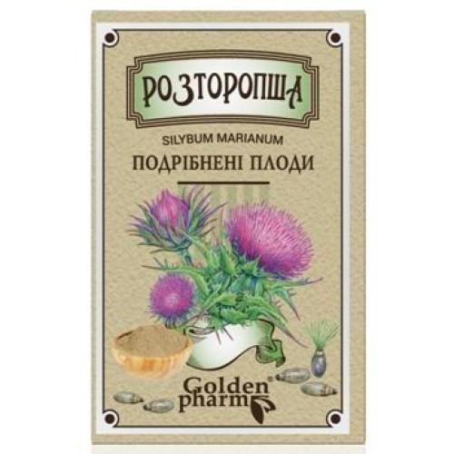 Шрот расторопши - плоды измельченные - мука расторопши 100 гр купить