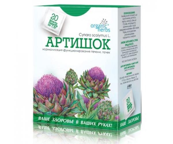 Фиточай Артишок Organic Herbs фильтр-пакеты 20 шт по 1,5 г
