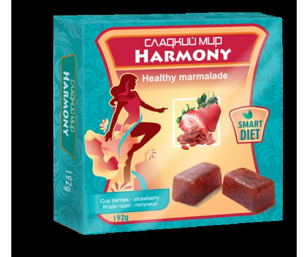 Натуральный мармелад Harmony Ягоды годжи - клубника без сахара 192 г