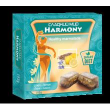 Натуральный мармелад Harmony семена Льна-лимон  без сахара 192 г