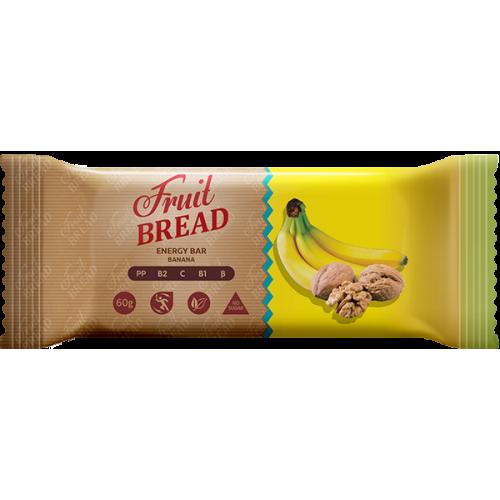 Энергетический батончик Fruit Bread Банановый 60 г 12 шт