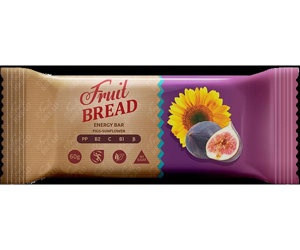 Энергетический батончик Fruit Bread Инжир-подсолнечник 60 г 12 шт