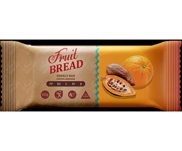 Энергетический батончик Fruit Bread Какао-апельсин 60 г 12 шт