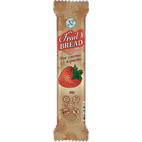 Енергетичний батончик Fruit Bread Полуниця 30 г 20 шт