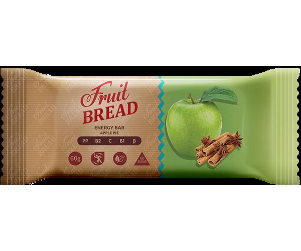 Енергетичний батончик Fruit Bread Яблучний пиріг 60 г 12 шт