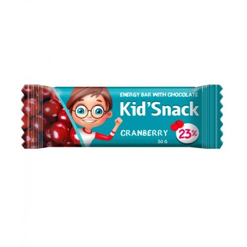 Энергетический батончик Kid'Snack Клюква 30 г 20 шт