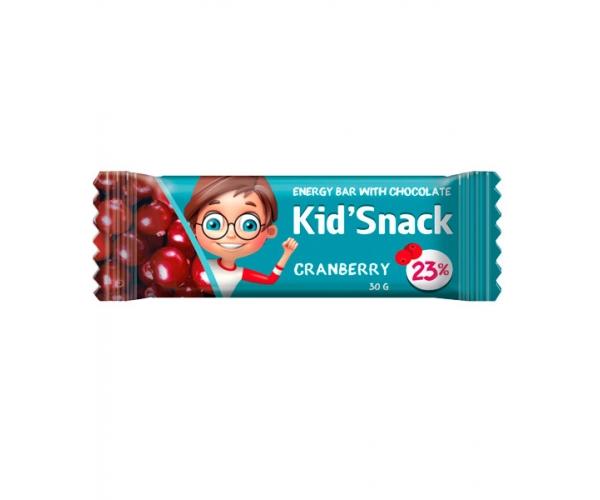Энергетический батончик Kid'Snack Клюква 30 г 12 шт
