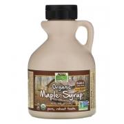 Кленовый сироп Now Foods органический класса А, темного цвета 473 мл