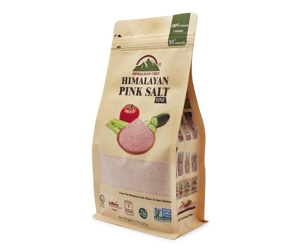 Натуральная Гималайская розовая соль супер мелкий помол 227 г