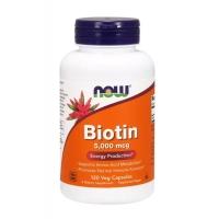 Biotin Now Foods 5000 мкг 120 капсул