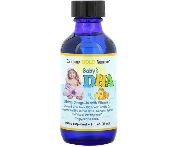 Омега 3 для детей California Gold Nutrition омега-3 с витамином D3, 1050 мг, 59 мл