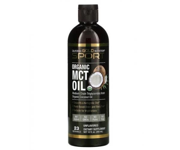 Органическое масло МСТ California GOLD Nutrition 355 мл