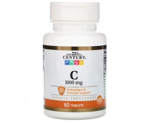 Витамин C 21st Century 1000 МЕ 60 таблеток