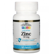 Цинк цитрат 21st Century 50 мг 60 капсул