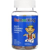 Мультивитаминная добавка для детей GummiKing вкус клубники, апельсина, лимона, винограда, вишни и грейпфрута, 60 жевательных конфет