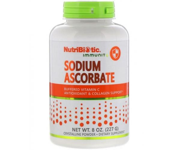 Буферизованный витамин C NutriBiotic аскорбат натрия кристаллический порошок 227 г