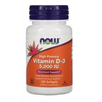 Витамин D3 Now Foods 5000 МЕ 120 капсул (733739003720)