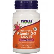 Витамин D3 Now Foods 5000 МЕ 240 капсул (733739003737)