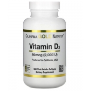 Витамин D3 California Gold Nutrition 2000 МЕ 360 капсул