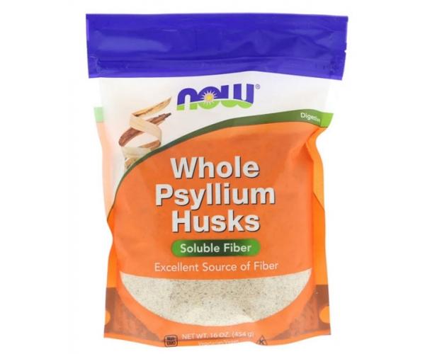 Псиллиум цельная оболочка семян подорожника Now Foods 454 г